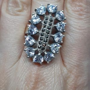 Showstopping CZ Heart Sterling Silver Ring